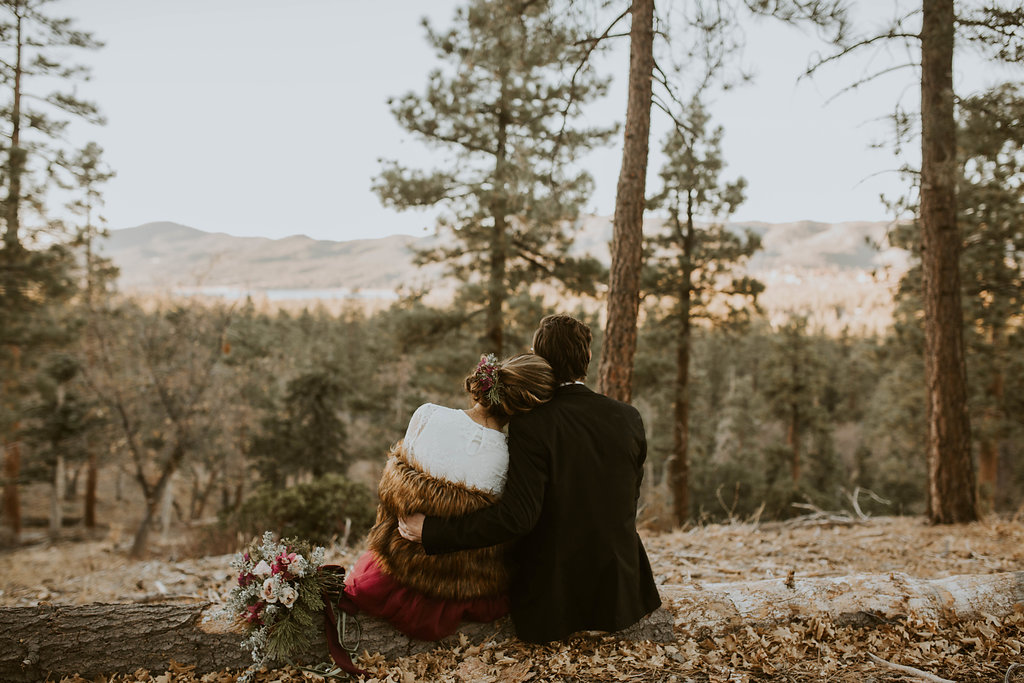 Festive Elopement Vibes at Big Bear