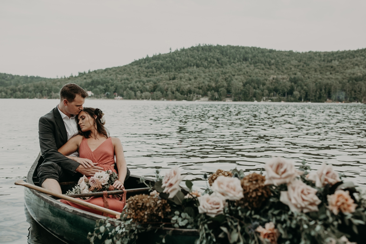Wild Lakeside Engagement in NY